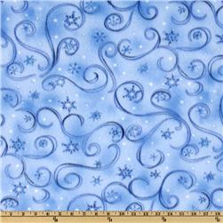 WinterFleece Swirl Light Blue