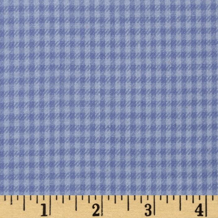 Yarn Dyed Fun Flannel Check Periwinkle