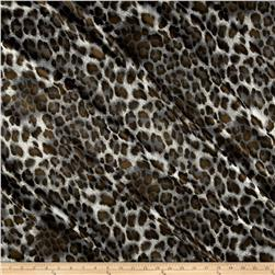 Panama Stretch Satin Cheetah Brown/Grey