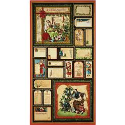 Christmas Emporium Large Sampler Panel Green
