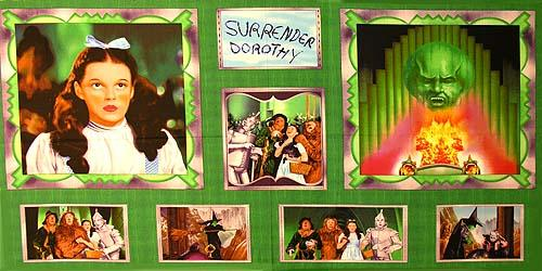 The Emerald City Surrender Dorothy Panel Green