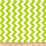 Riley Blake Small Chevron Lime