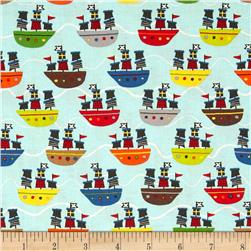 Riley Blake Treasure Map Boats Blue