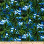 0289924 Island Sanctuary Palm Trees Navy