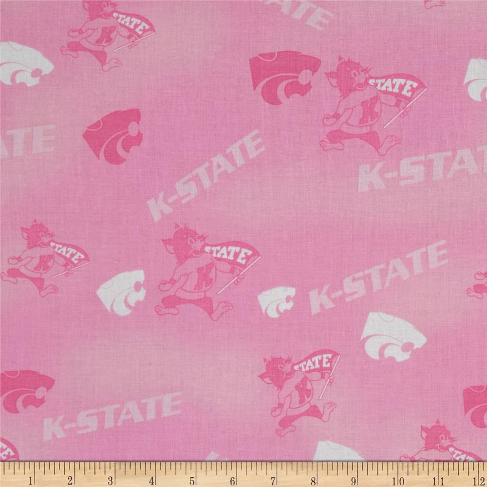 Collegiate Cotton Broadcloth Kansas State Pink