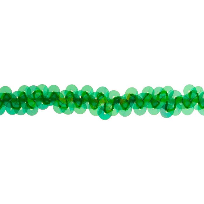3/8&quot; Stretch Metallic Sequin Trim Green Aurora Borealis