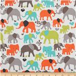 Michael Miller It&#39;s A Boy Thing Elephant Walk Dirt Brown