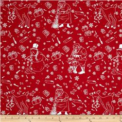 Bella Christmas Celebration Twill Red