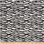Animal Activewear Knit Small Zebra Black/White