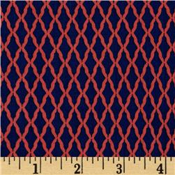 Paisley Please Lattice Navy/Coral