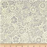 0300623 Deco Flowers Tonal Deco Flower Grey