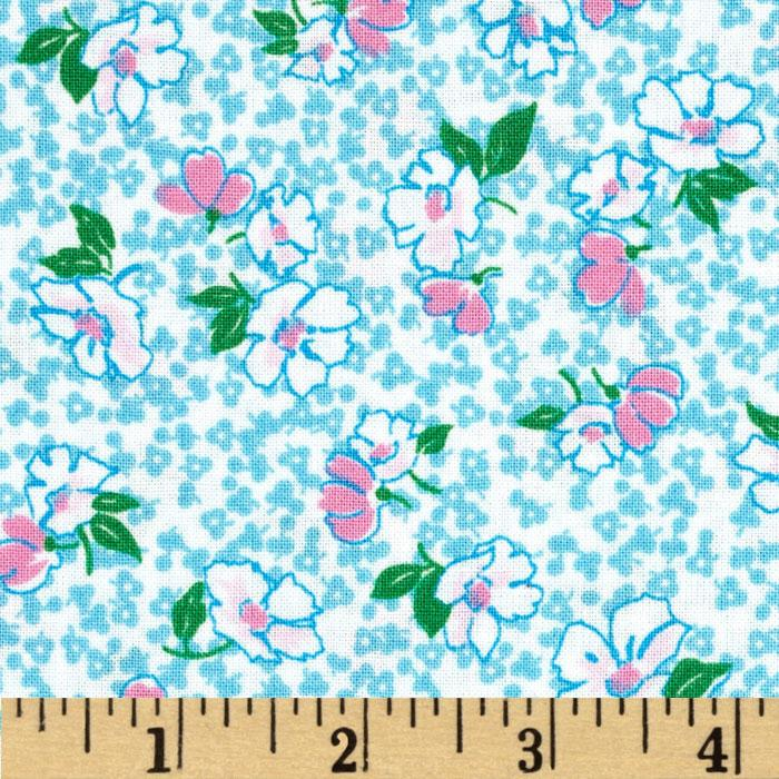 Peggy Sue Floral Toss Light Blue