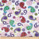 0283912 Minky Cuddle Paisley White/Multi