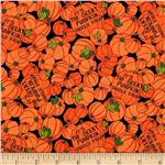 0285183 Peanut's Welcome Great Pumpkin Packed Pumpkins Orange/Black