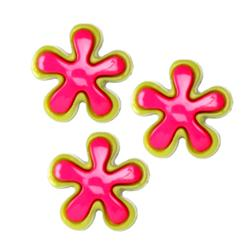 Novelty Button 5/8'' Astrick Hot Pink