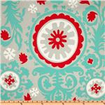 UM-218 Premier Prints Suzani Twill Harmony/Red