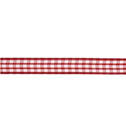 "3/8"" Yarn Dyed Checker Ribbon Red"