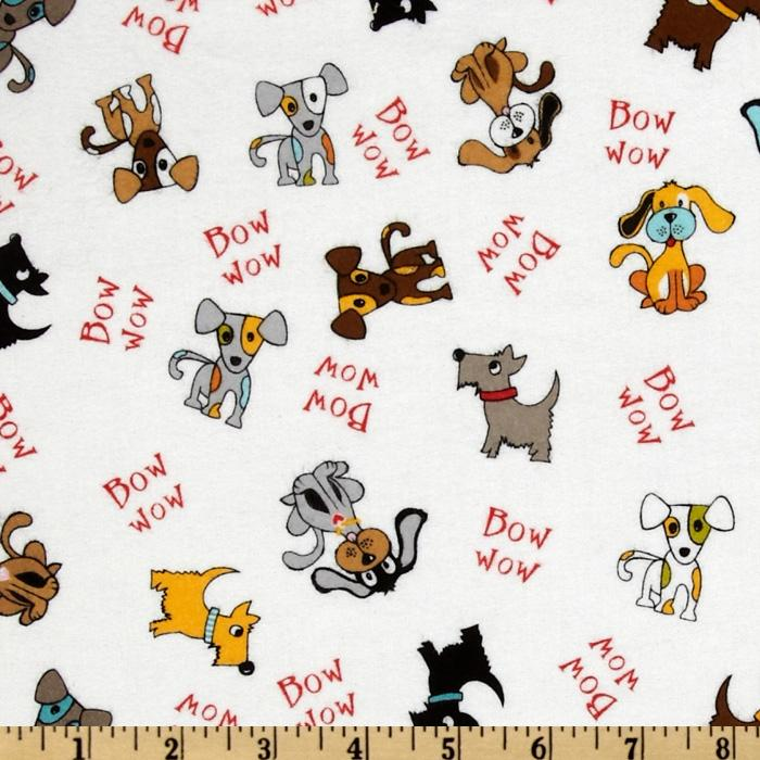 Puppy Park Flannel Dogs Cream