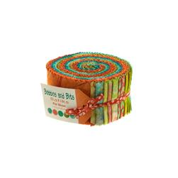 Moda Bobbins and Bits Batiks 2 1/2'' Jelly Rolls