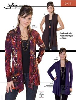 Jalie Pleated Cardigan & Vest Pattern