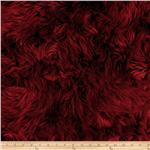 0266747 Faux Fur Luxury Shag Maroon