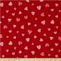 Moda Surrounded By Love Stamps Candy Heart Red