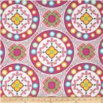 217940 Polka Perch Medallion Pink