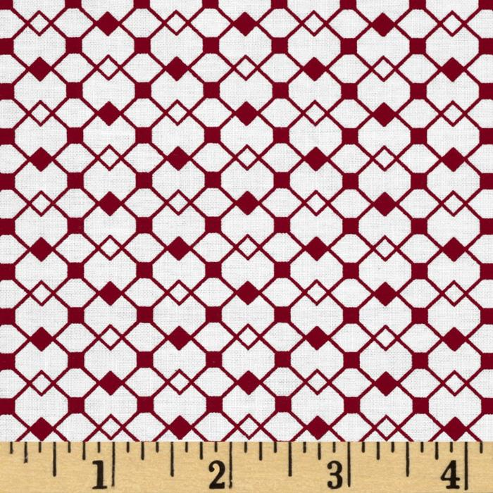 Mod Designs Diamond Squares White/Red