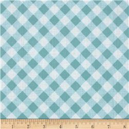 Tanya Whelan Sunshine Roses Gingham Blue