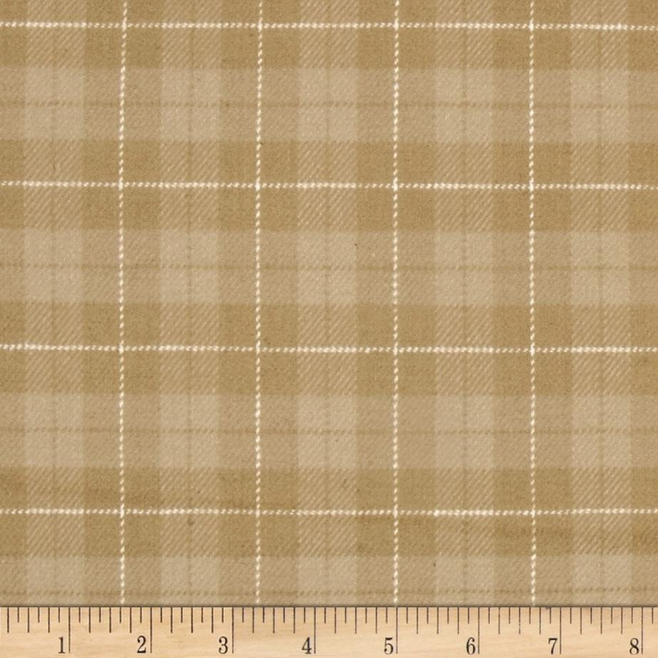 Primo Plaids Flannel Yarn Dyed Plaid Large Tan