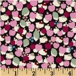 FI-021 Liberty Of London Tana Lawn Hello Kitty Kitty Apple Tree Pink