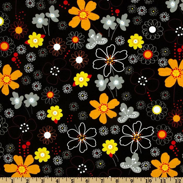 Earth, Wind and Fire Floral Black/Red