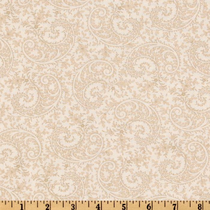 115'' Royal Lights Quilt Backing Paisley Ivory