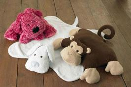 Kwik Sew Puppy & Monkey Pillows and Blankets Pattern
