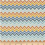 0290685 Flutter Peachskin Chevron Royal