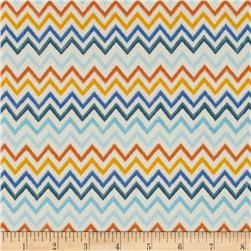 Flutter Peachskin Chevron Royal