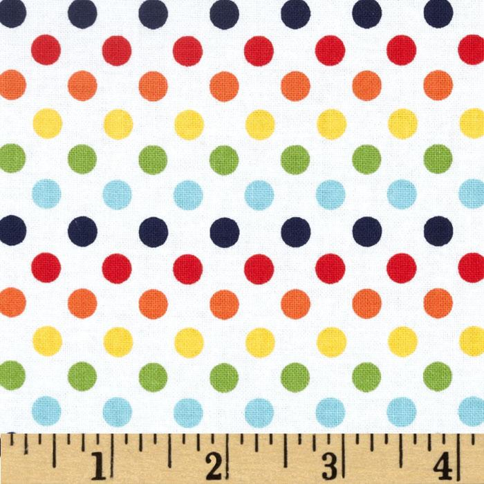 Riley Blake Dots Small Rainbow