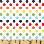 224074 Riley Blake Dots Small Rainbow