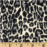 0290315 Milano Double Knit Leopard Black/Cream