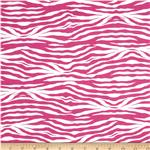 Princess Zebra Print Hot Pink