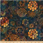 0288525 Bali Batiks Floral Navy