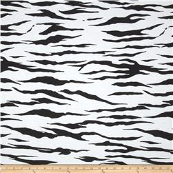 Cotton Blend Jersey Knit Zebra Black/White