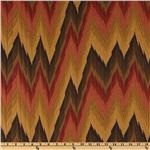 Kasper Flamestitch Jacquard Rust