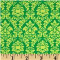 Michael Miller Dandy Damask Sorbet Sprout Green