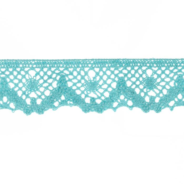 "Riley Blake Sew Together 1 1/4"" Crocheted Lace Trim Teal"