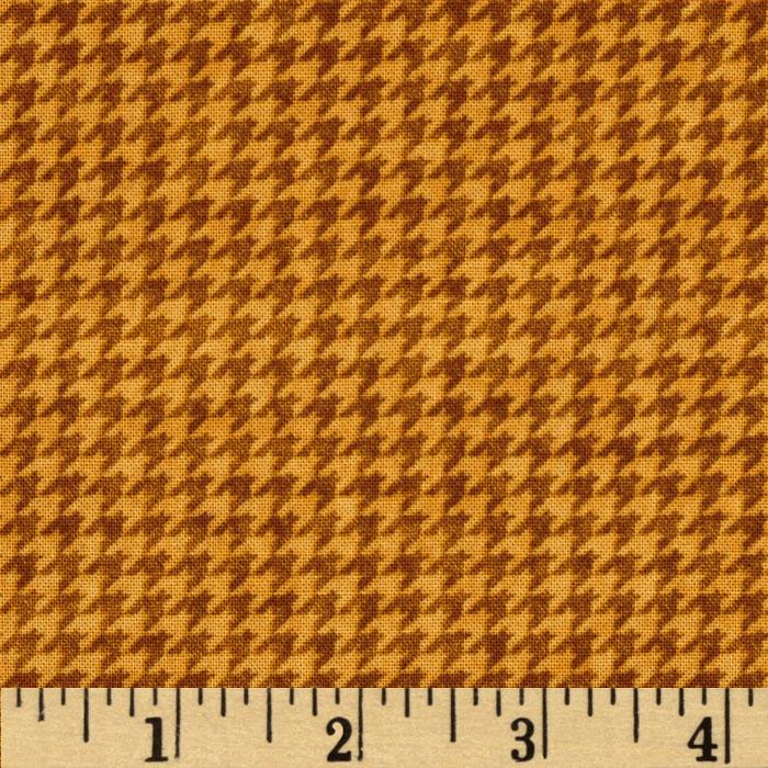 Cabin By The Lake Houndstooth Gold