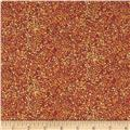 Quilting Treasures Autumn Spendor Metallic Speckle Blender Pumpkin