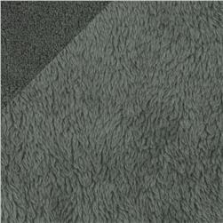 Double-Sided Minky Fleece Charcoal