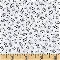 Timeless Treasures Mini Music Notes White