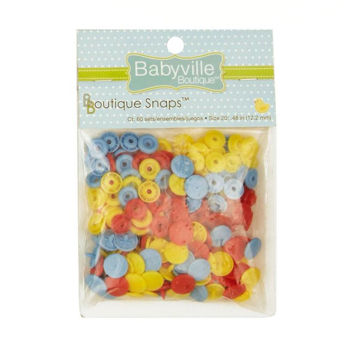 Babyville Snaps Blue/Yellow/Red